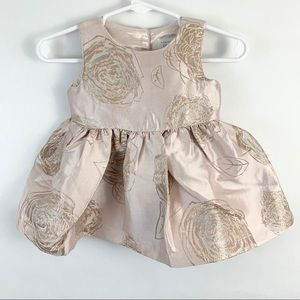 The Children's Place Pink Gold Rose Formal Dress